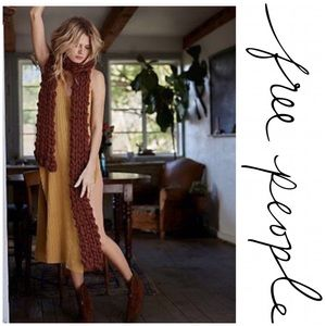 Free People Maggie May Rust Scarf